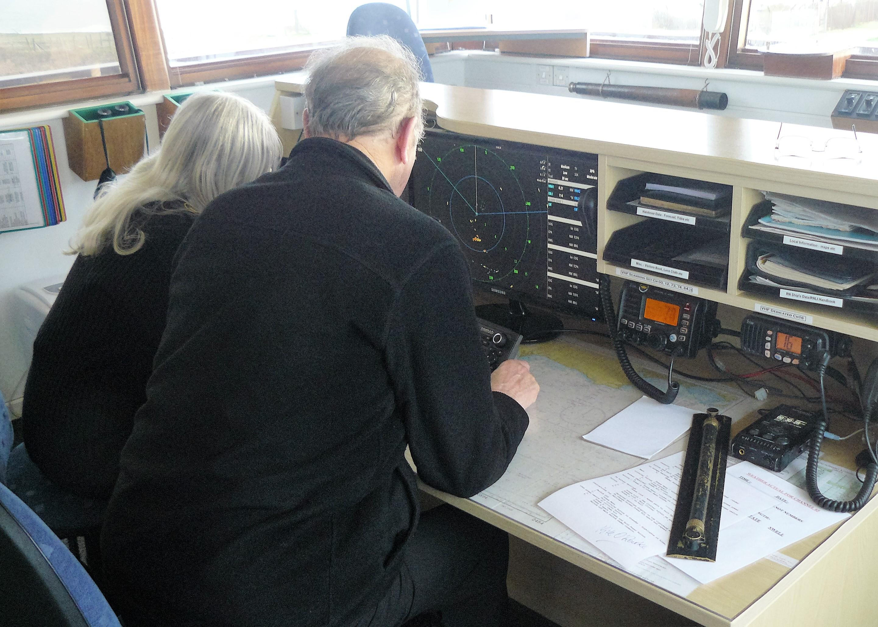 151219 John Rose and Sheila Belsten Radar Training (1)