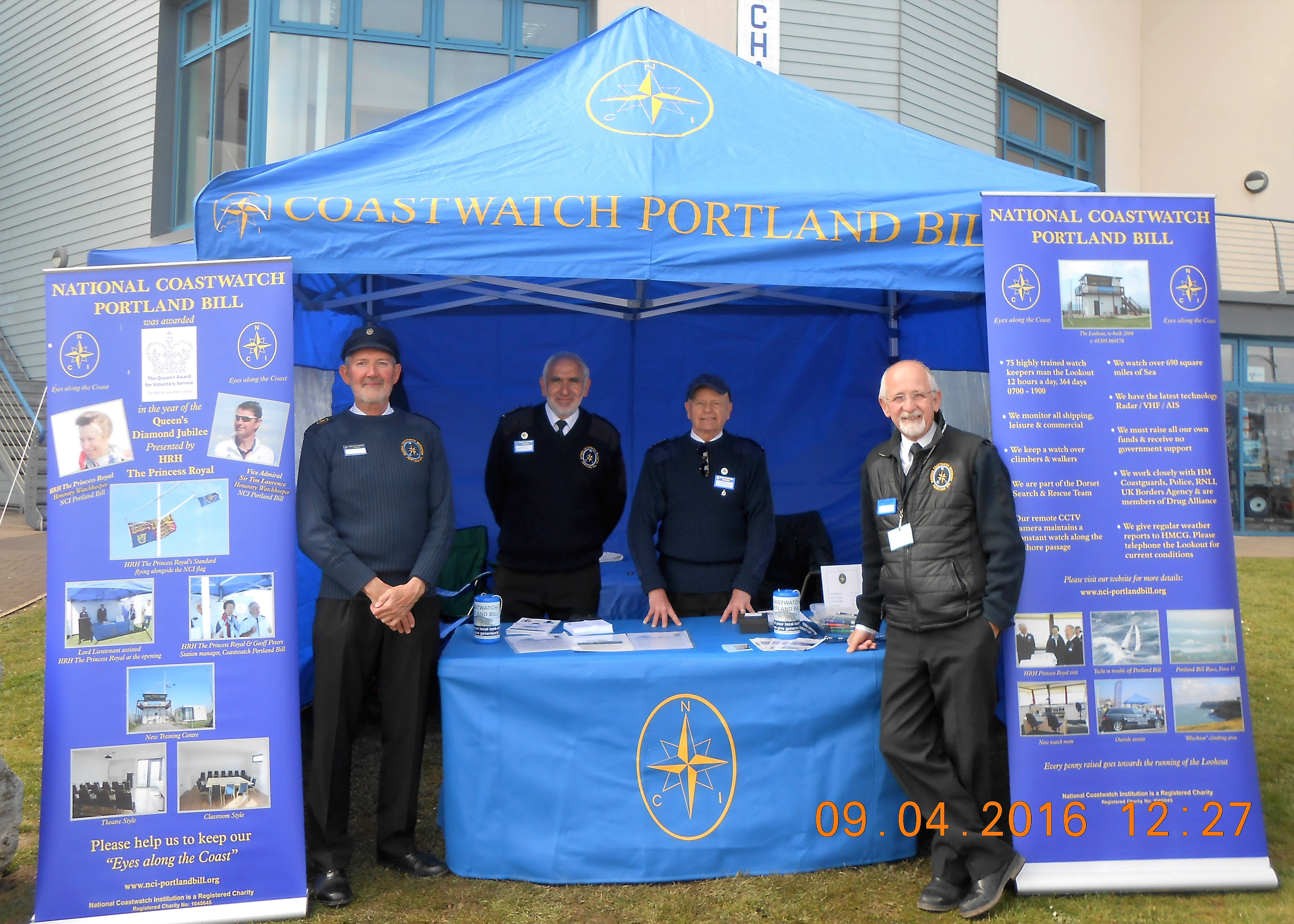 Watchkeepers on Saturday morning duty at Fish and Ships 2016