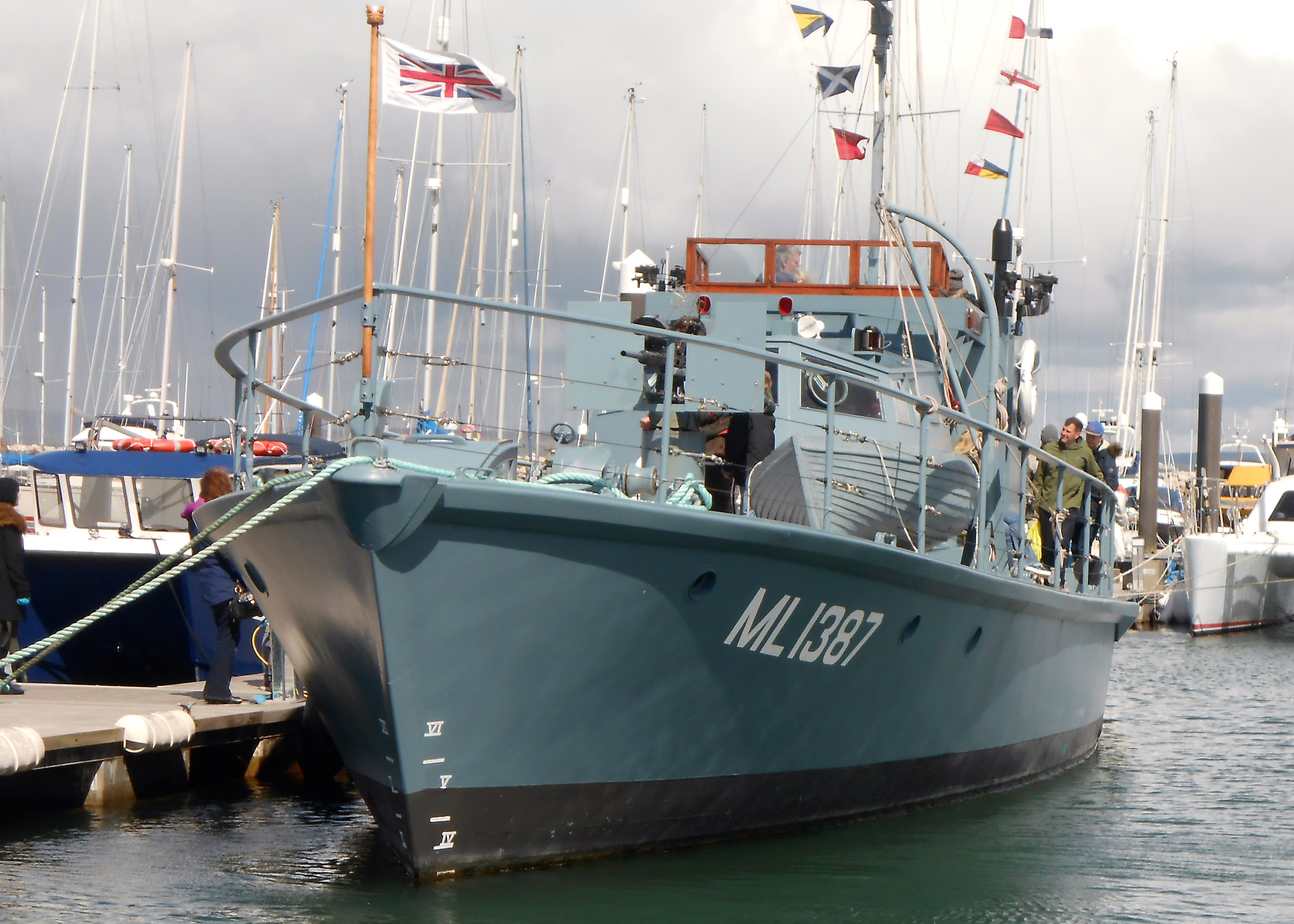 WW2 Vessel 'Medusa' open to the public in the Marina at Fish and Ships 2016